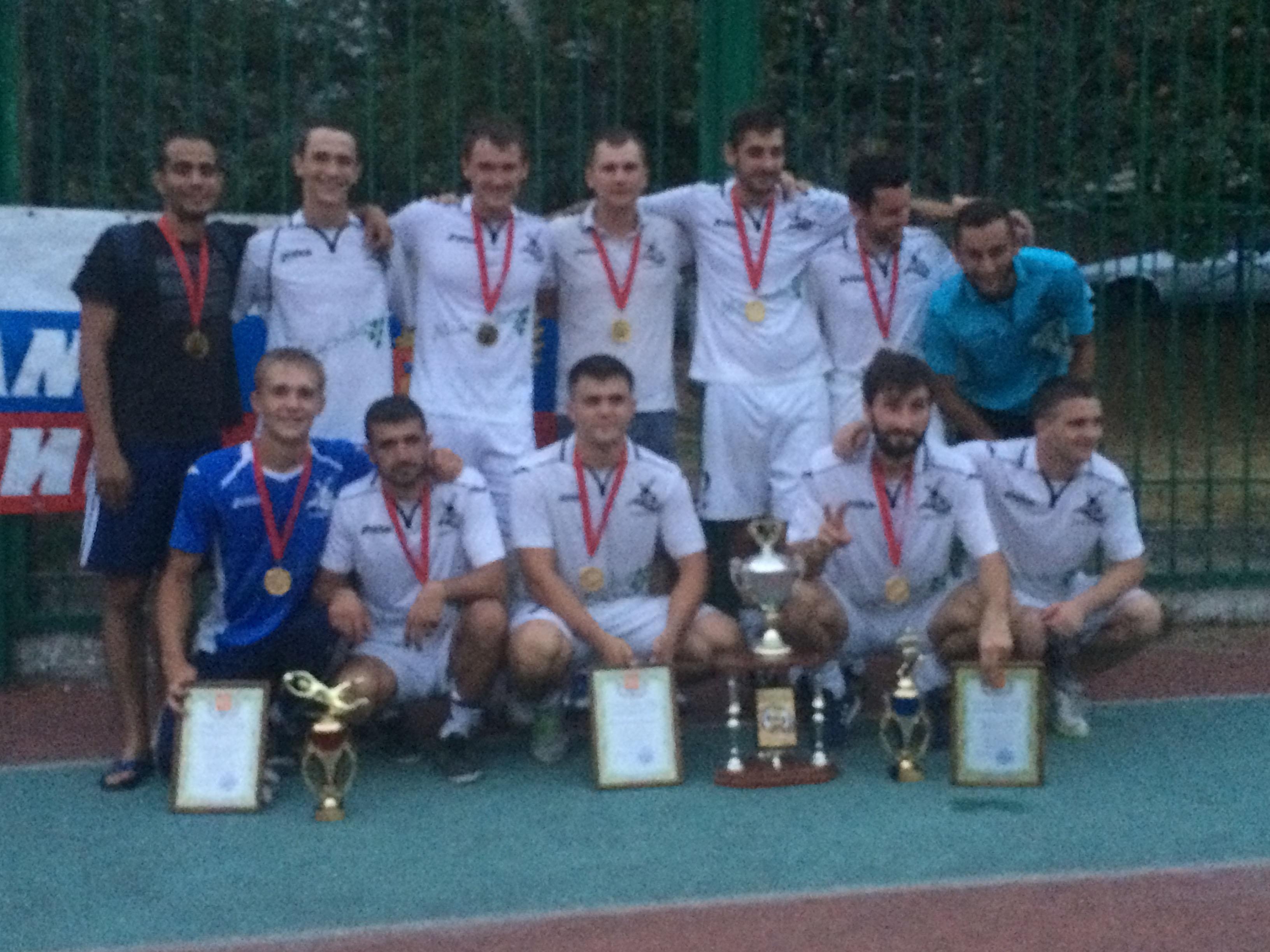 Победитель кубка г. Новороссийска по мини-футболу среди предприятий 2016 Аквамарин